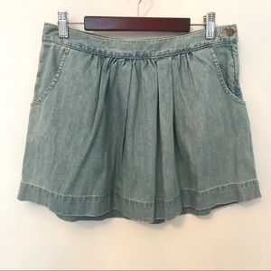Madewell Stonewashed Light Denim Gathered Mini 25